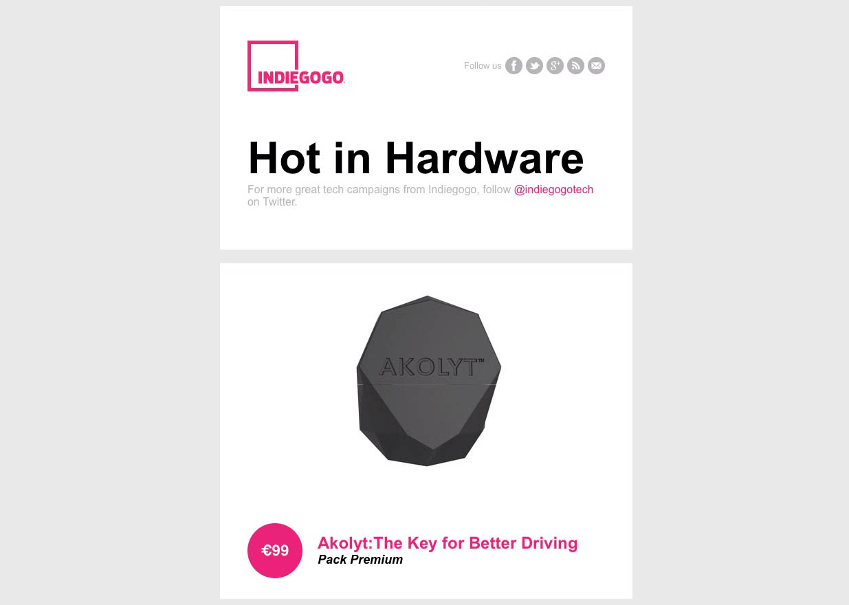 AKOLYT hot in Indiegogo